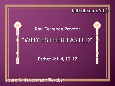 """3-15-20 """"Why Esther Fasted"""" - 2nd Service"""