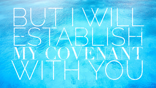 But I Will Establish My Covenant With You