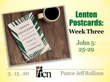 """""""Lenten Postcards - Part 2"""""""