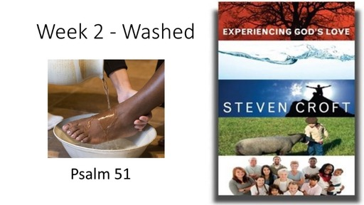Experiencing God's Love Week 2 Washed