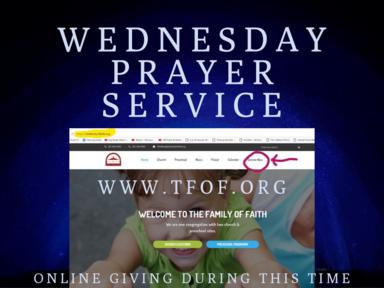 March 18, 2020 - Wednesday Night Prayer (LIVESTREAM)