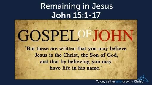 HTD - 2020-03-15 - John 15:1-17 - Remaining in Christ