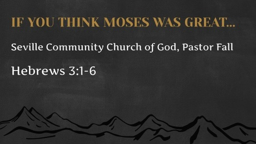 If You Think Moses Was Great...