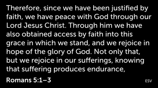 Rejoice In God (Romans 5:1-11)
