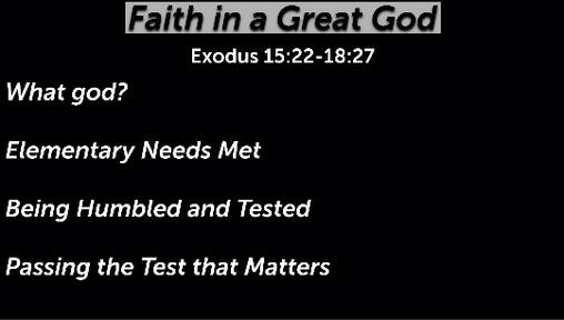 Faith in a Great God