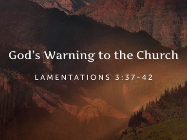 God's Warning to the Church