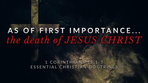 12. The Death of JESUS CHRIST