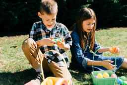 Kids Opening Their Easter Eggs Together  image 2