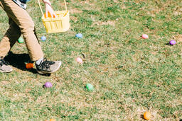 Boy Grabbing Easter Eggs  image 2
