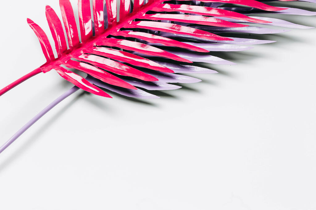 Hot Pink and Purple Palm Leaves large preview
