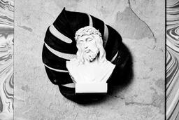Christ Statue on Marbled Background  image 1