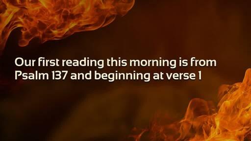 Sunday 11 August 2019 - Faithful under Fire