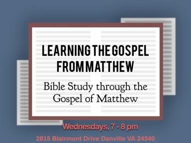 Learning the Gospel from Matthew: (3/25/20)