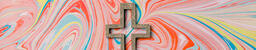 Cross on Pastel Marbled Background  image 6