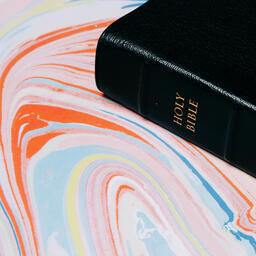 Bible on Pastel Marbled Background  image 2