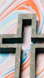 Cross on Pastel Marbled Background  image 4