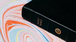 Bible on Pastel Marbled Background  image 4