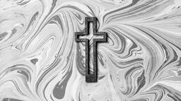 Concrete Cross Outline on Marbled Background  image 4