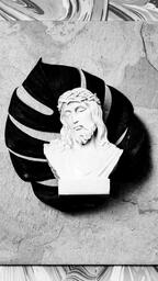 Christ Statue on Marbled Background  image 3