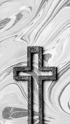 Concrete Cross Outline on Marbled Background  image 7