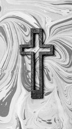 Concrete Cross Outline on Marbled Background  image 8