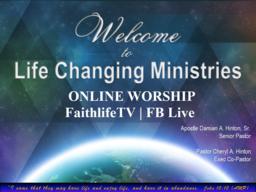 Sunday Worship 3/29/2020 10AM
