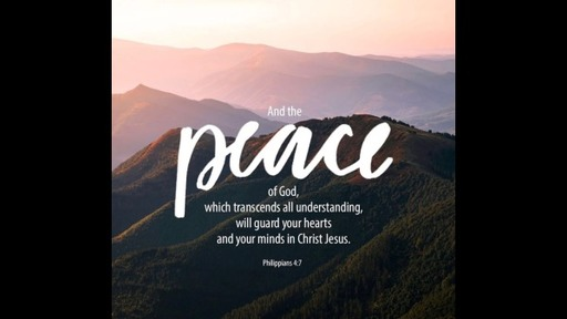 The Peace of God, Sunday, March 29, 2020
