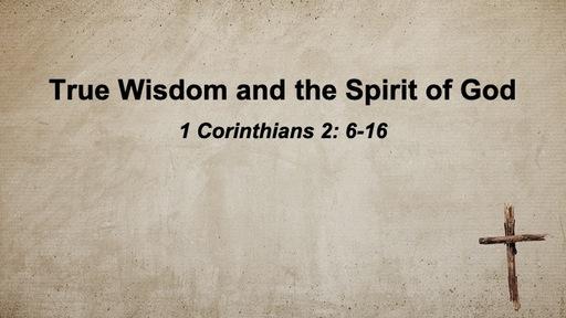 True Wisdom and the Spirit of God