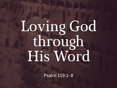 Loving God through His Word