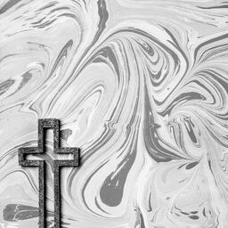 Concrete Cross Outline on Marbled Background  image 3