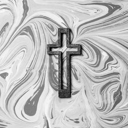 Concrete Cross Outline on Marbled Background  image 10