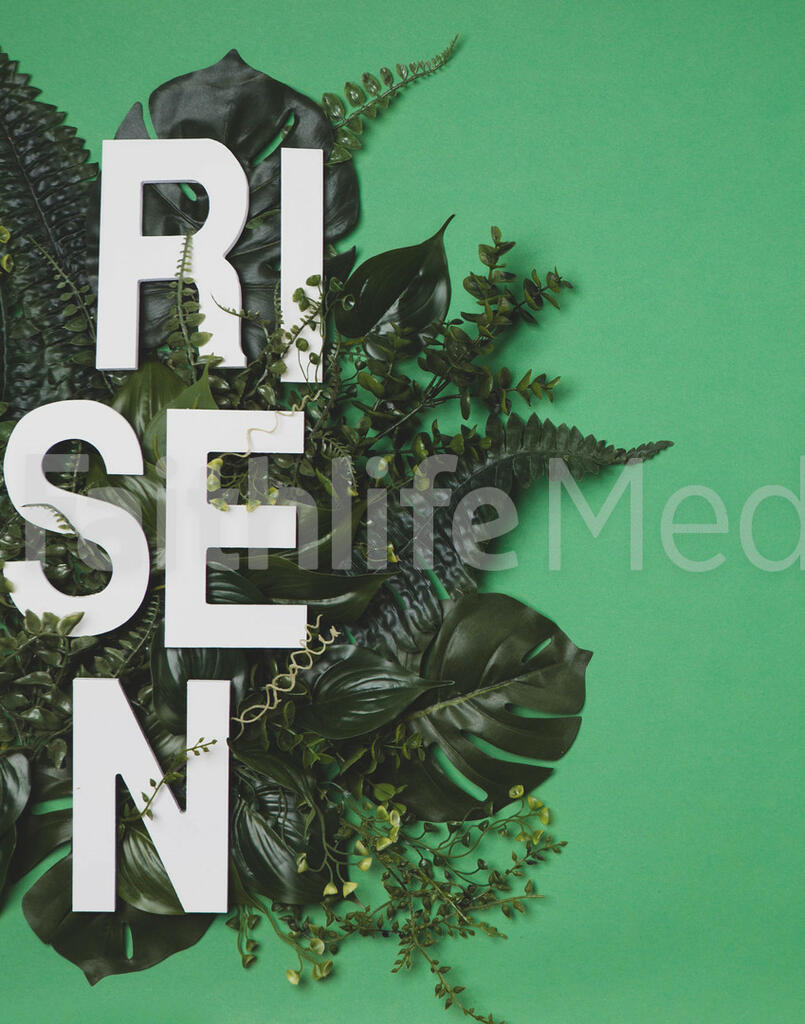 RISEN Letters in Greenery large preview