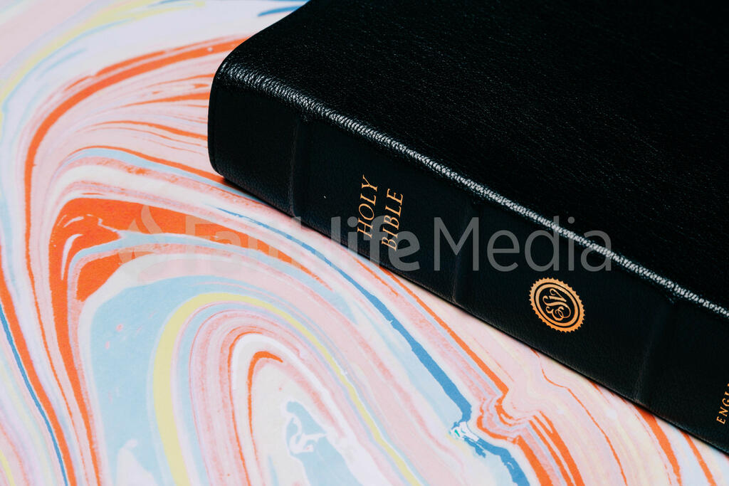 Bible on Pastel Marbled Background large preview