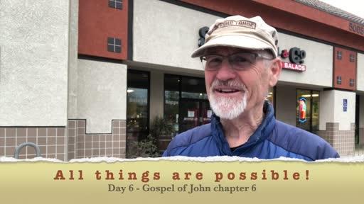 EASTER challenge DAY 6 - John 6