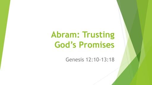 Abram: Trusting God's Promises - 5th April 2020