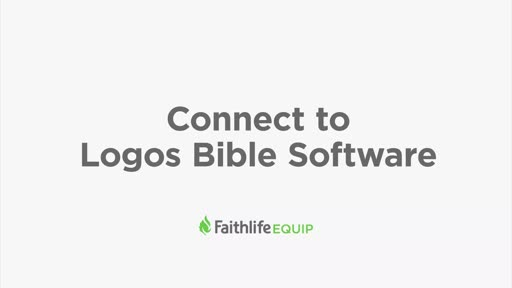 Connect To Logos Bible Software