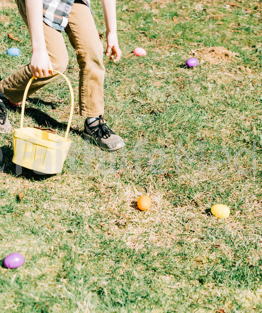 Boy Grabbing Easter Eggs large preview