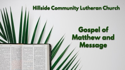 Passion Story and Message