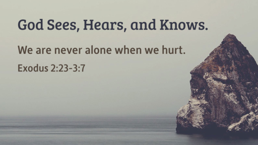 (Exodus 2:23-3:7) God Sees, Hears, and Knows.