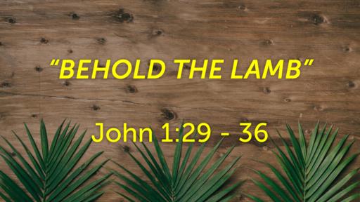 April 5 - Behold The Lamb
