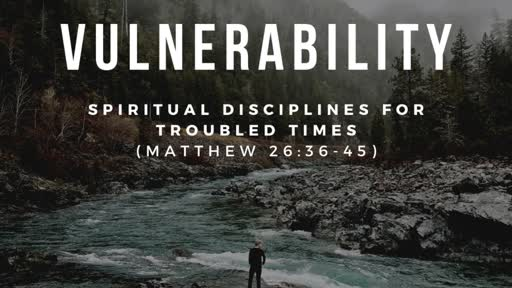 Vulnerability - A Spiritual Discipline for Troubled Times