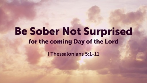 Be Sober Not Suprised