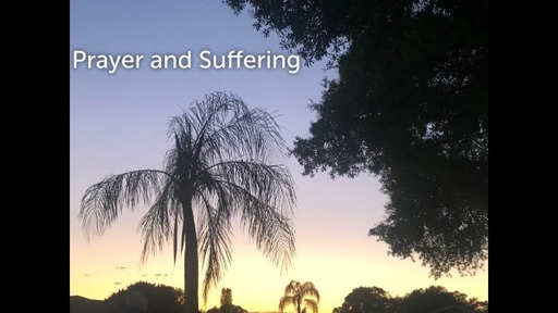 April 5, 2020 PM Prayer and Suffering