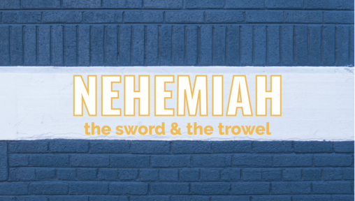 Nehemiah: The Sword & The Trowel   Vision for the City