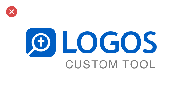 A bad example: adding a custom tagline to the Logos logo