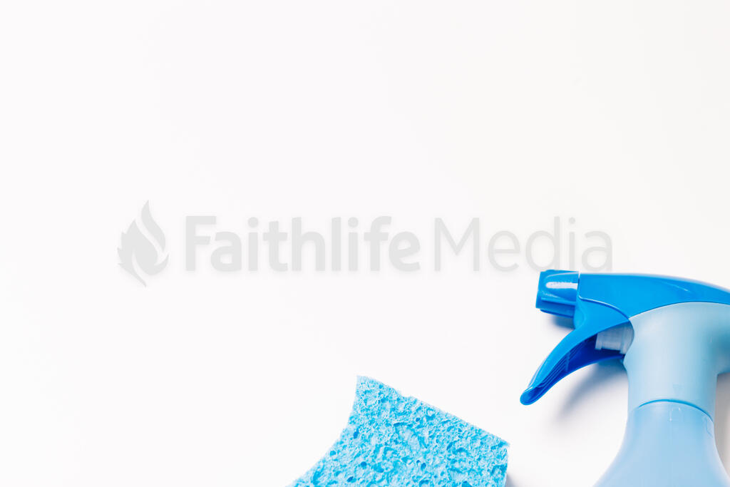 Blue Spray Bottle and Sponge large preview