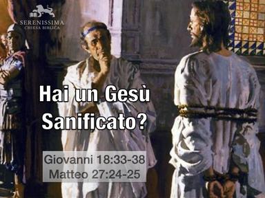 Hai un Gesù sanificato?