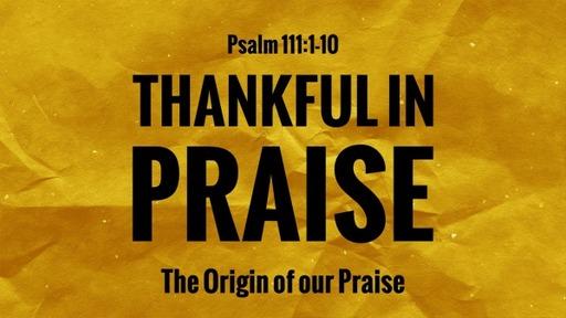 Bible Study Psalms 111