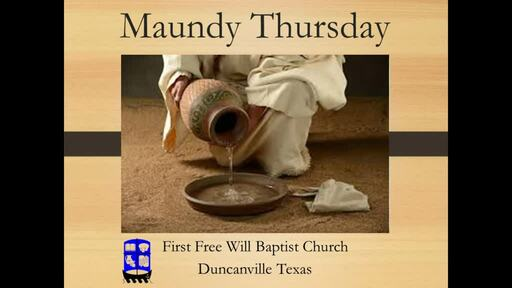 4-9-2020 Maundy Thursday