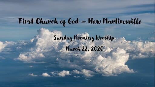 Sunday Morning Worship - March 22, 2020